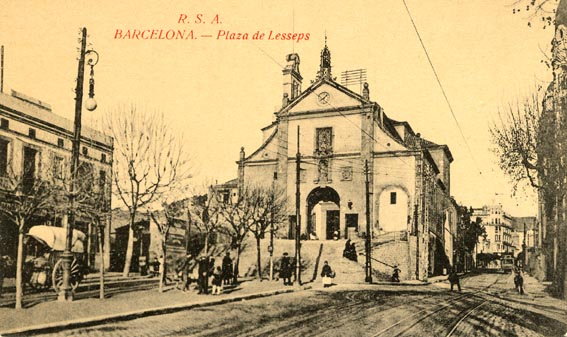 Plaça Lesseps -anys deu segle XX