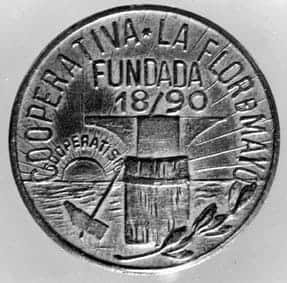 Moneda cooperativa-Flor-de-Maig-1936-1